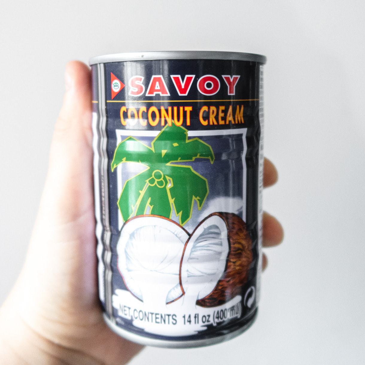 A can of Savoy Brand Coconut cream