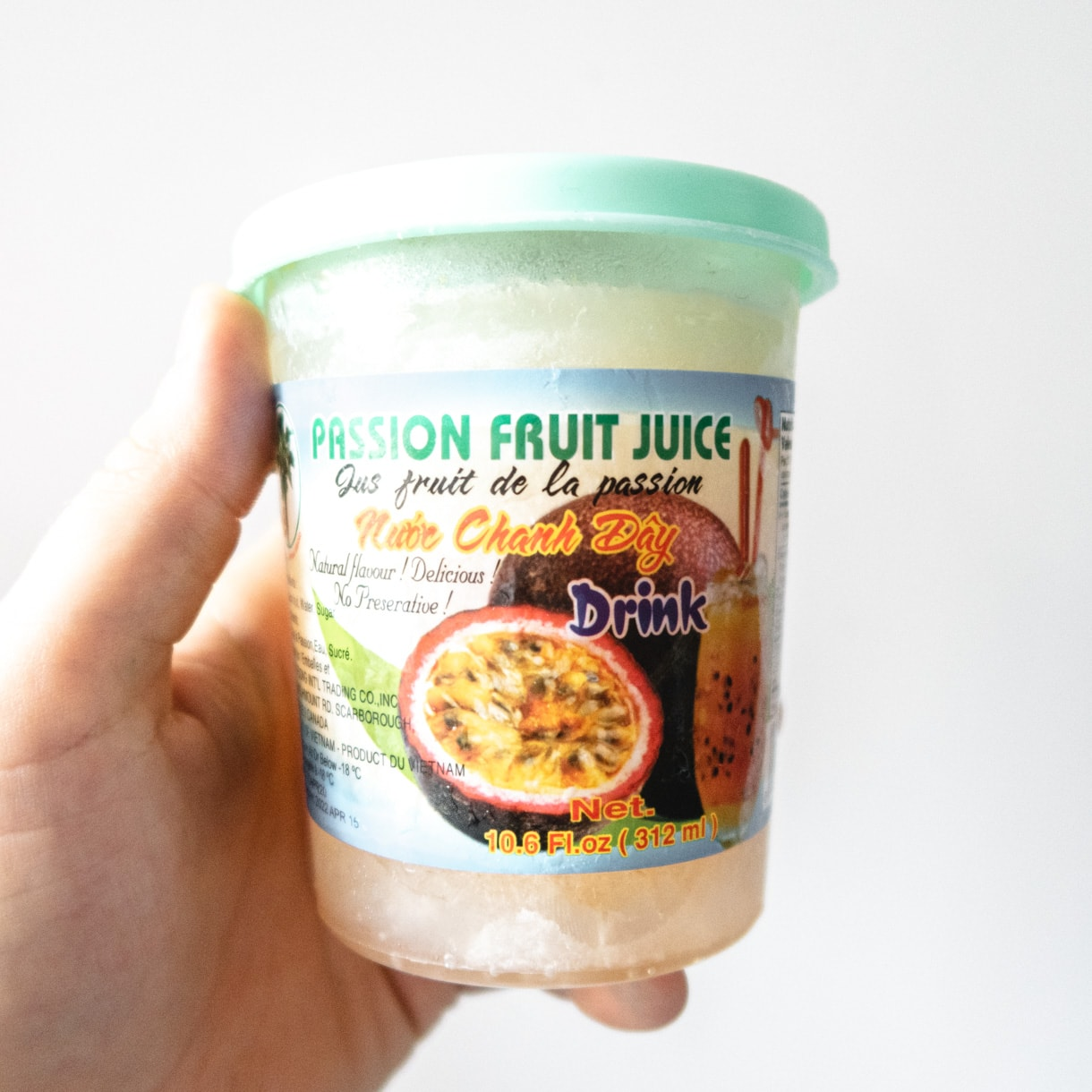 Frozen passion fruit juice